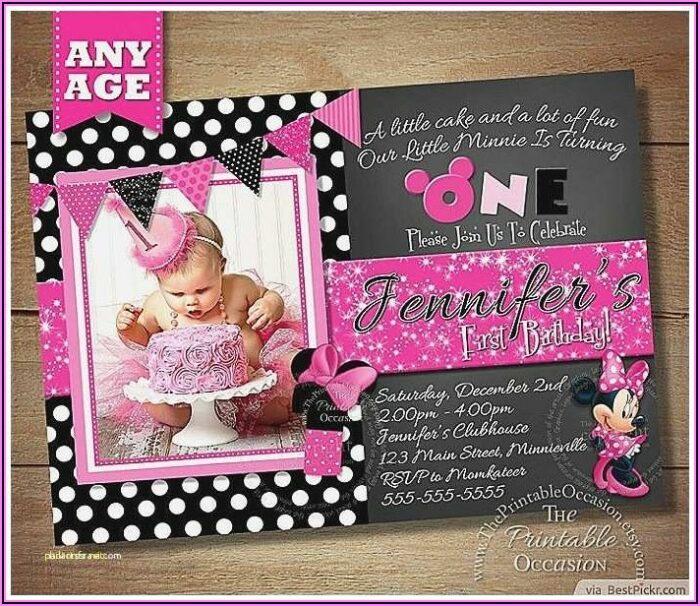 Customized Minnie Mouse Birthday Invitations