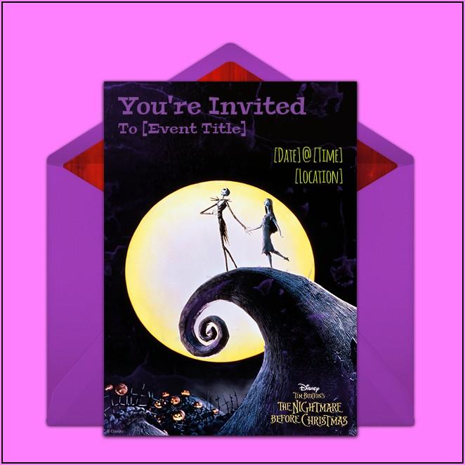 Diy Nightmare Before Christmas Birthday Invitations