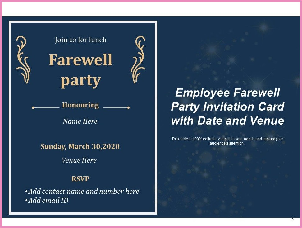 Farewell Team Lunch Invitation Email