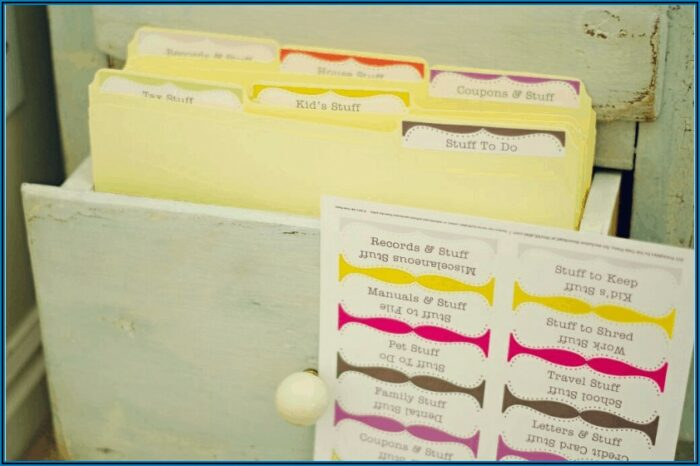 File Cabinet Tag Template
