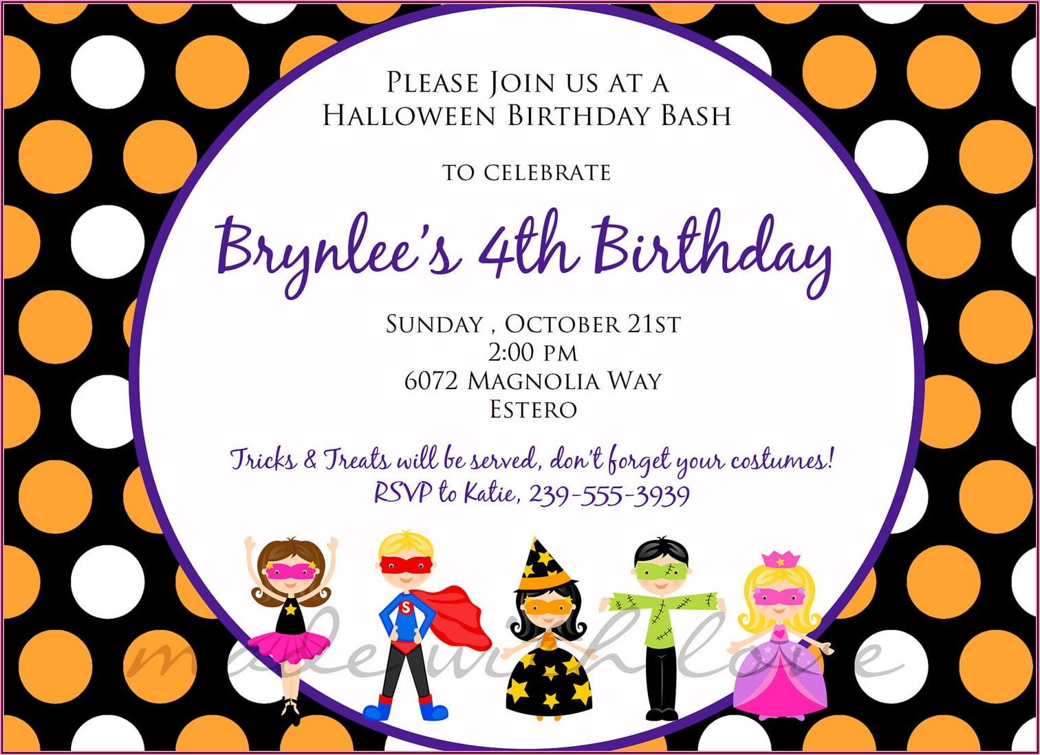 Five Year Girl Birthday Invitation Wording