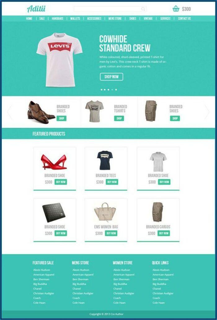 Free Ecommerce Website Templates