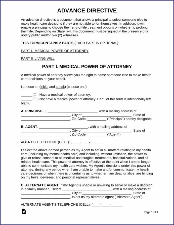 Free Health Care Directive Form Washington State