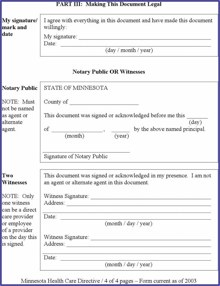 Free Minnesota Health Care Directive Form