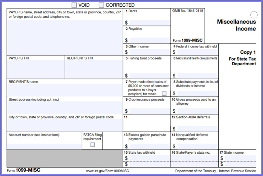Free Printable 1099 Misc Form 2020
