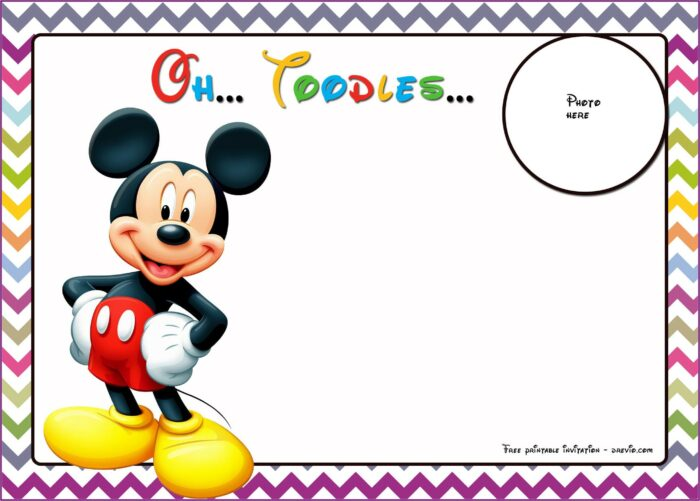 Free Printable Mickey Mouse Birthday Invitation Templates