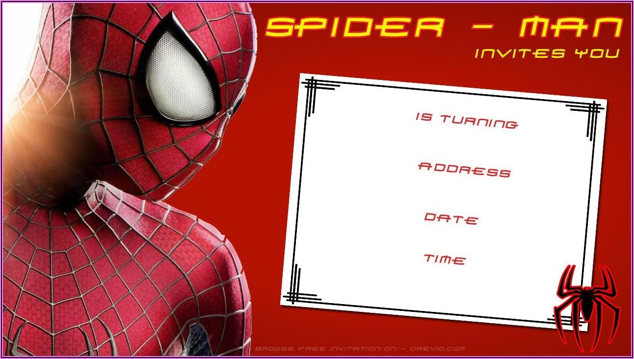 Free Printable Spiderman Invitation Templates