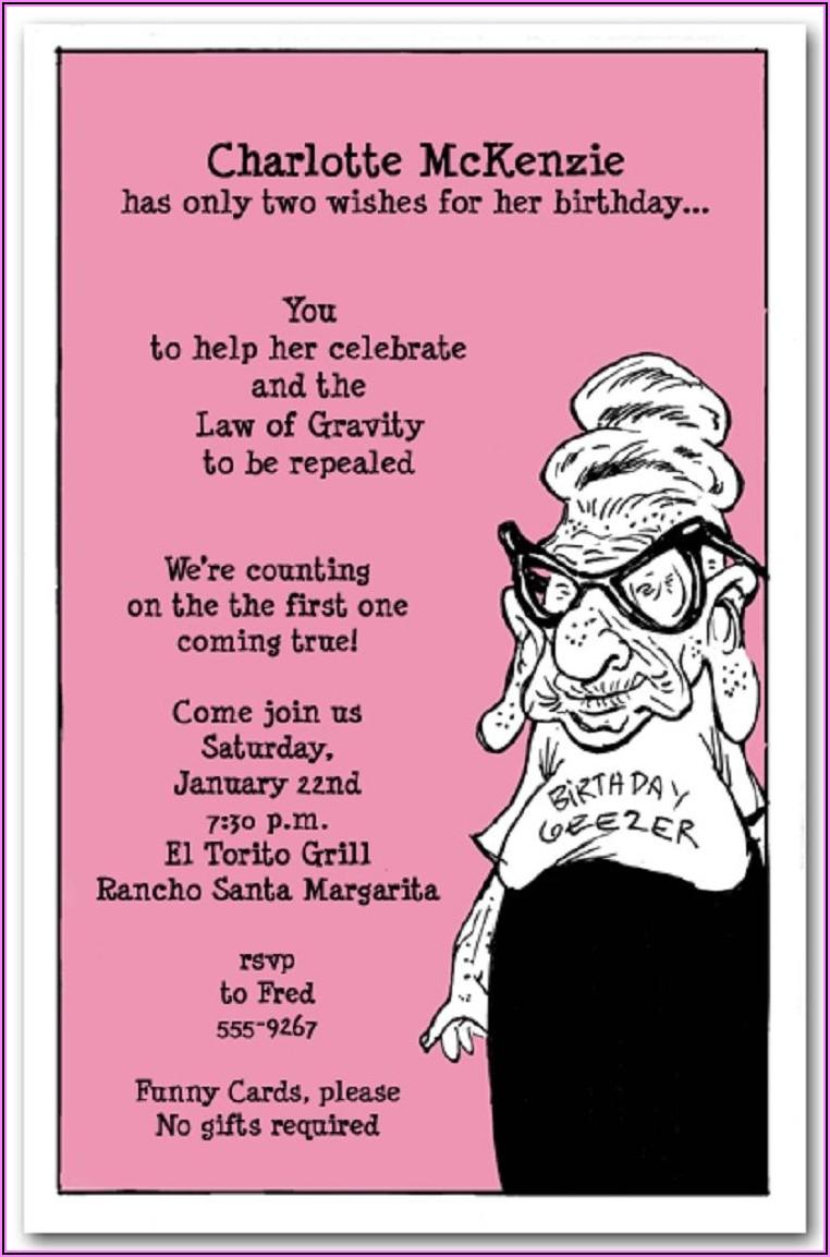 Funny Surprise 50th Birthday Invitation Wording