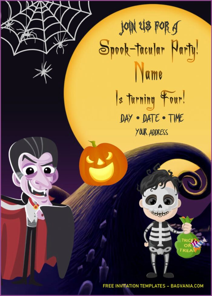 Halloween Invitation Templates Microsoft Word Free