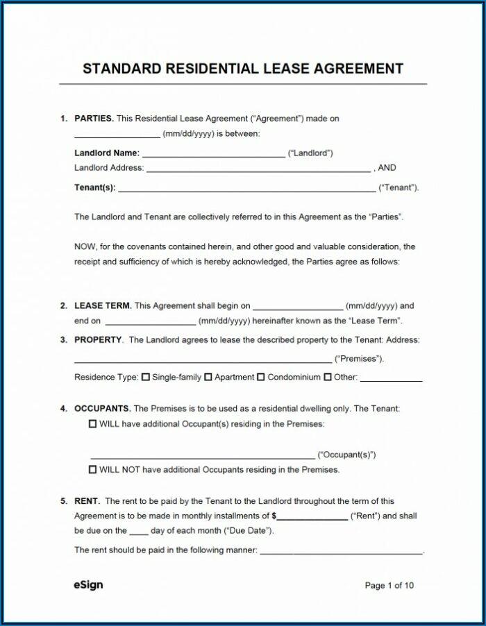 Home Rental Agreement Form