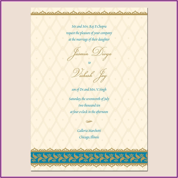 Indian Marriage Invitation Templates For Friends