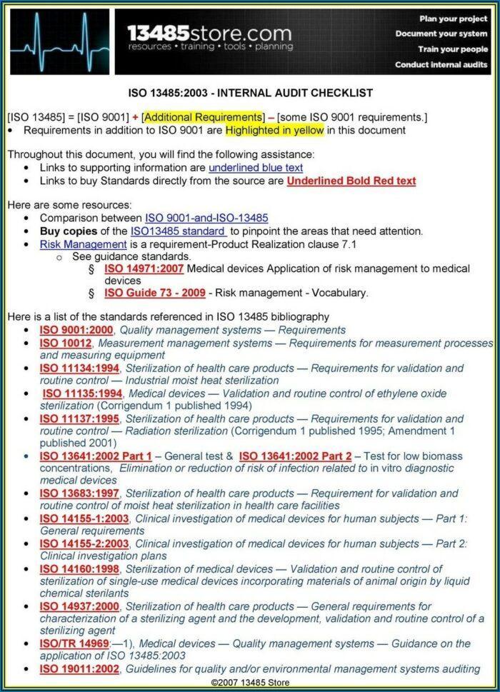 Iso 27001 Internal Audit Template