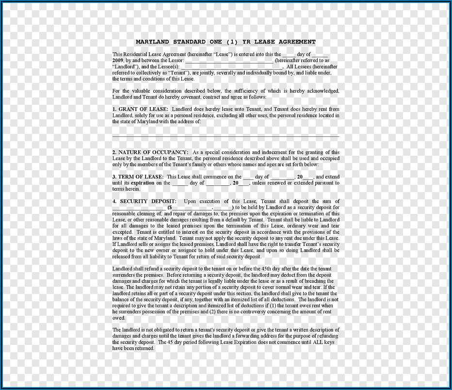 Landlord Tenant Contract Sample