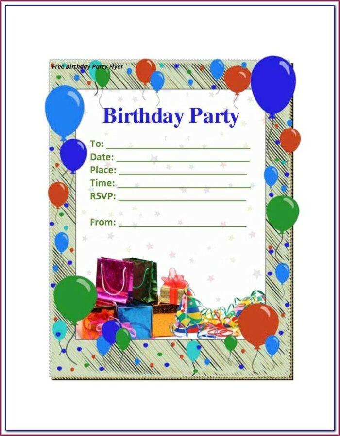 Male 18th Birthday Invitation Templates