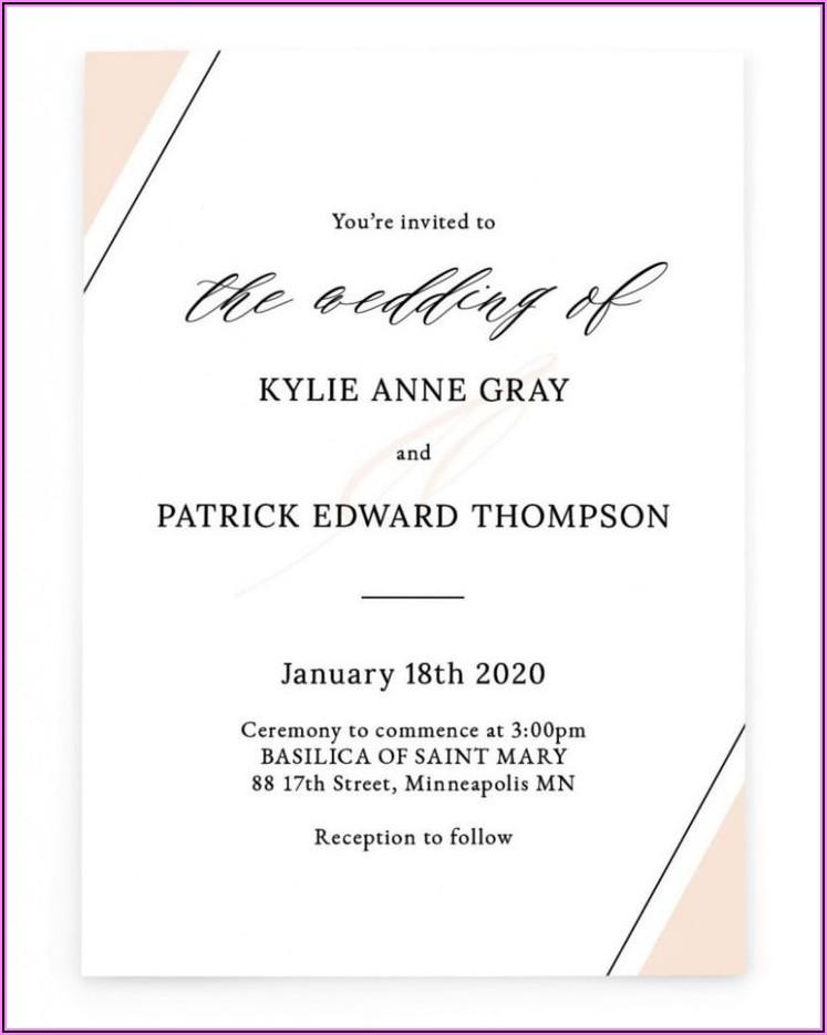 Marriage Invitation Templates In English