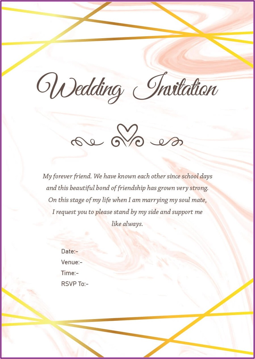 Marriage Invitation Wording In English