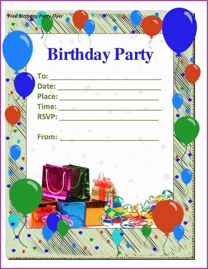 Microsoft Word Birthday Invitation Templates Free