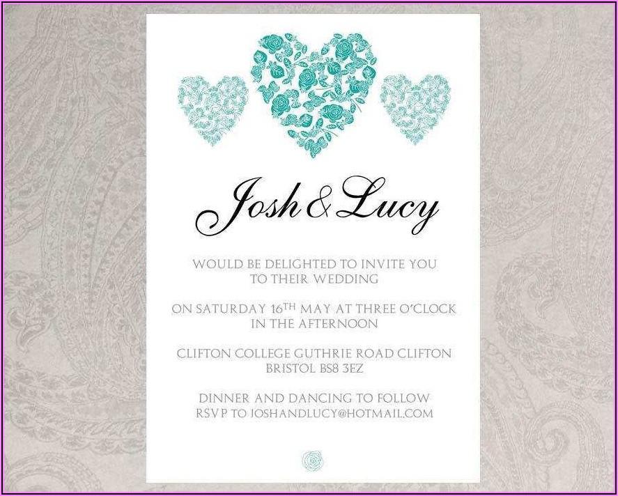 Microsoft Word Wedding Invitation Templates Free
