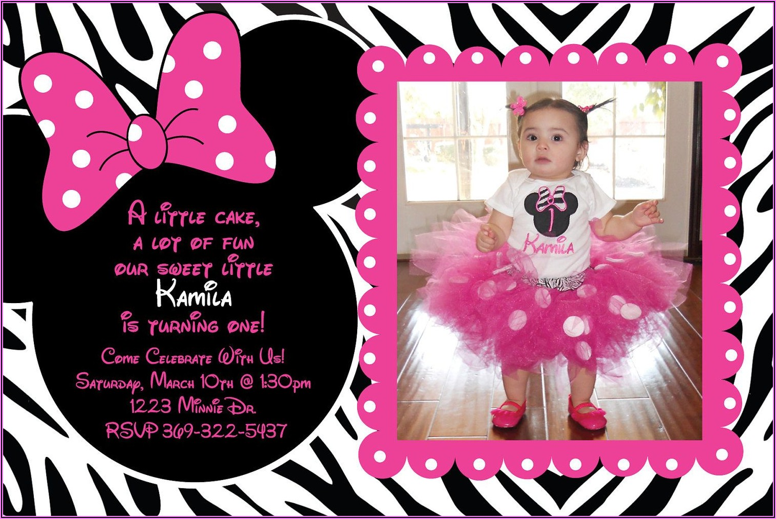 Minnie Mouse Personalized Invitations Free