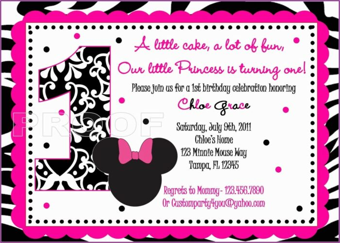 Minnie Mouse Red And Black Invitations