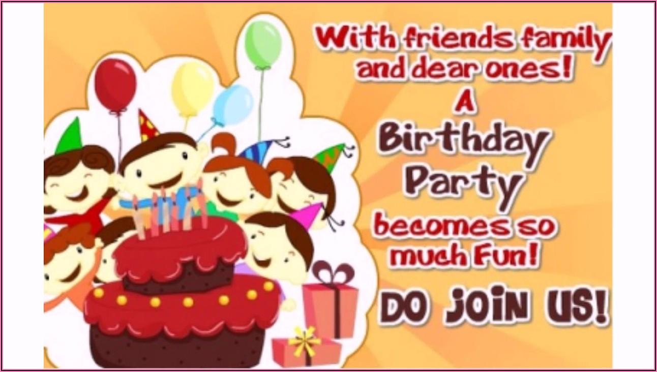 My Son 5th Birthday Invitation Message
