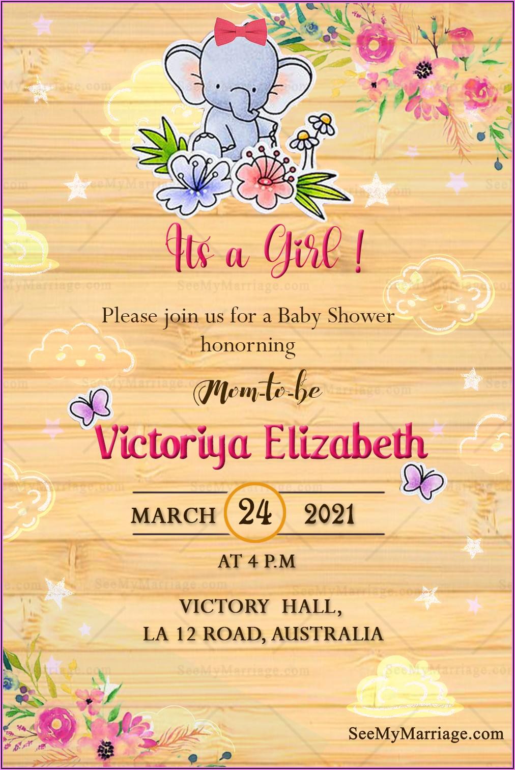 Naming Ceremony Invitation Card For Baby Girl In Telugu