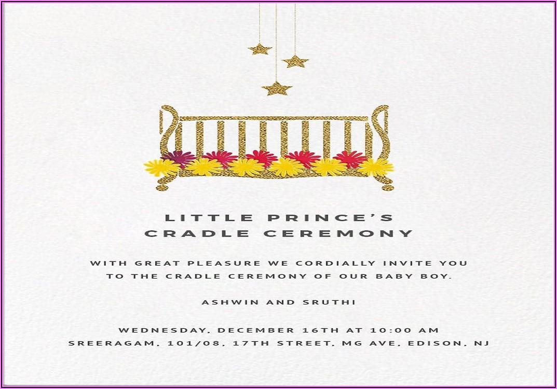 Naming Ceremony Invitation Card For Baby Girl