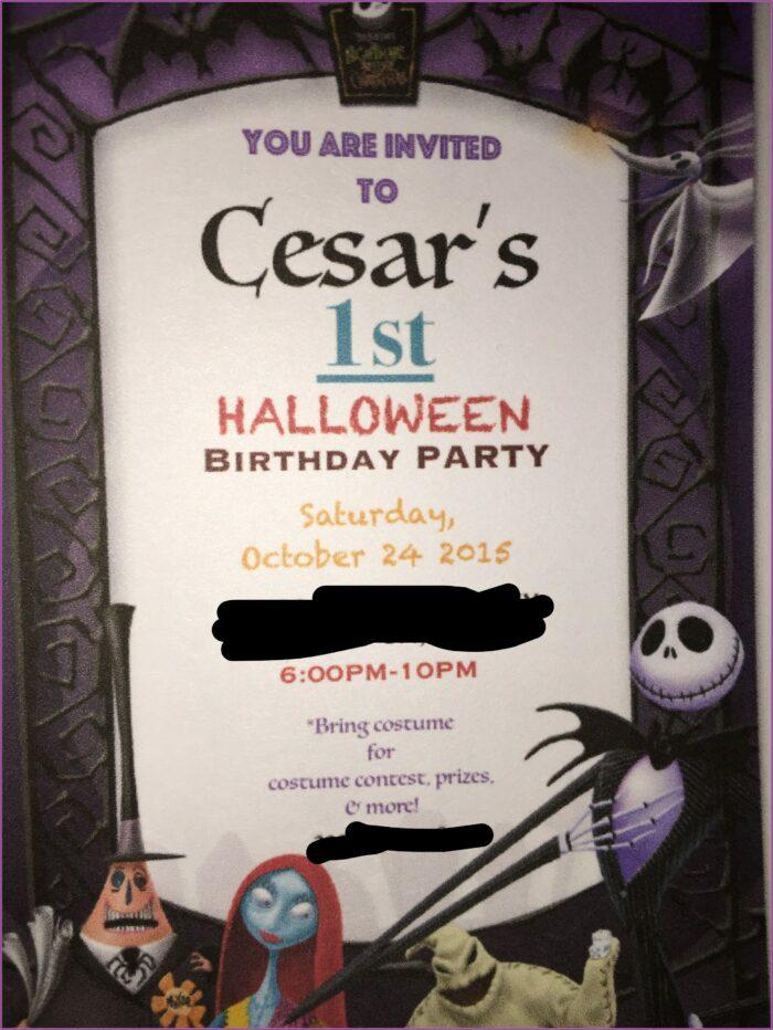 Nightmare Before Christmas Birthday Party Invitations