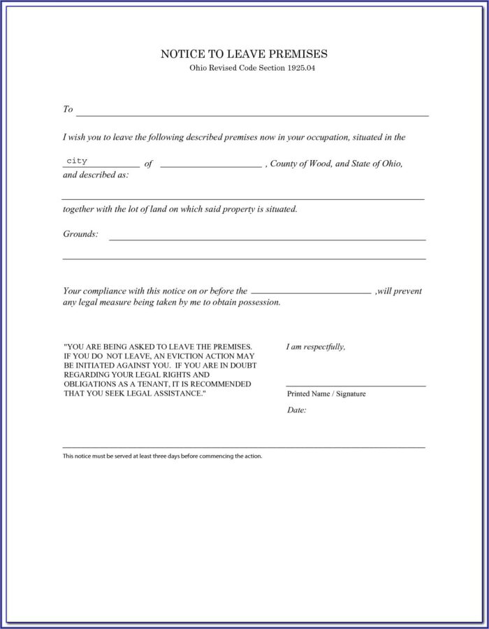 Ohio Eviction Forms