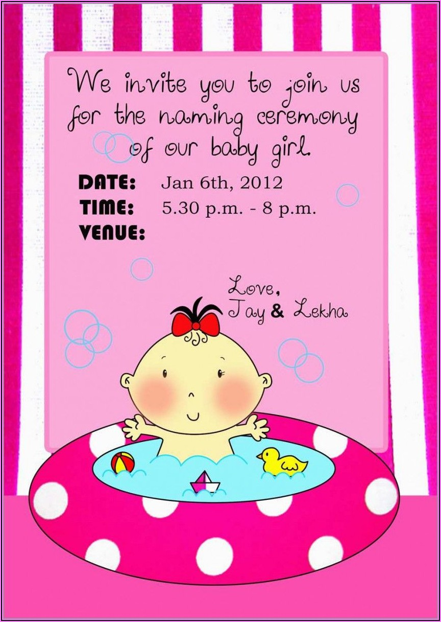 Online Naming Ceremony Invitation Card In Marathi