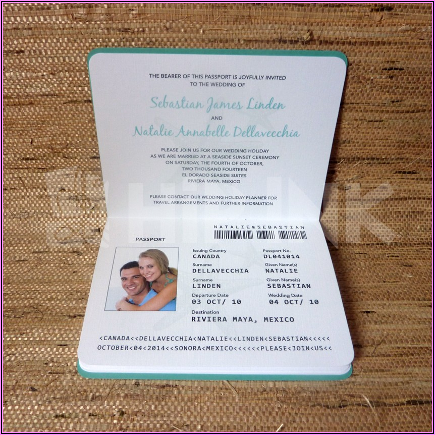 Passport Invitation Template Free