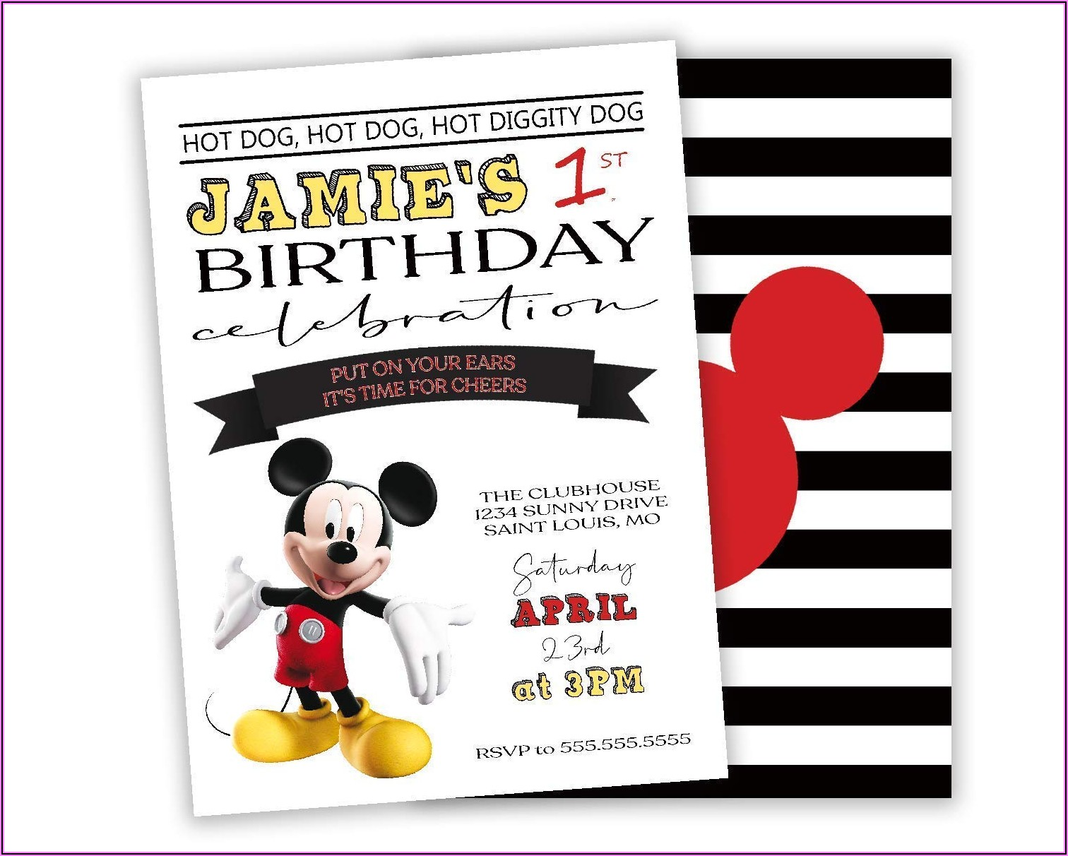 Personalized Mickey Mouse Birthday Invitations