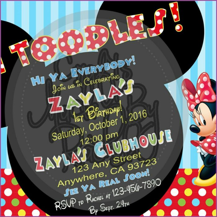 Personalized Mickey Mouse Clubhouse Invitation