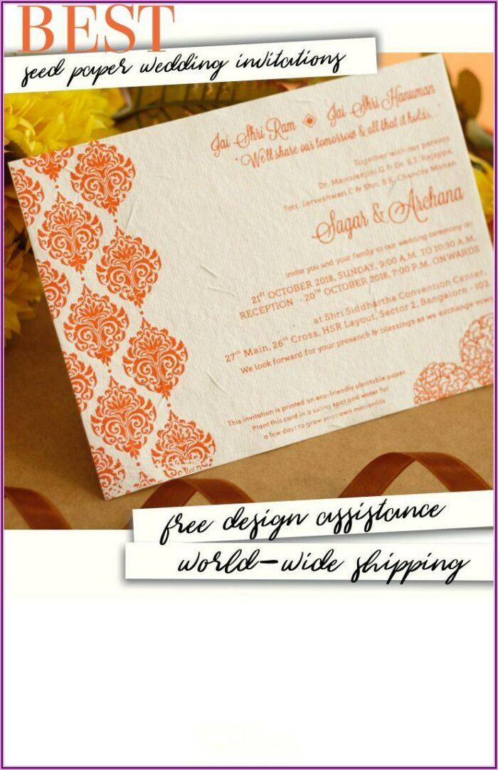 Plantable Wedding Invitations Bangalore