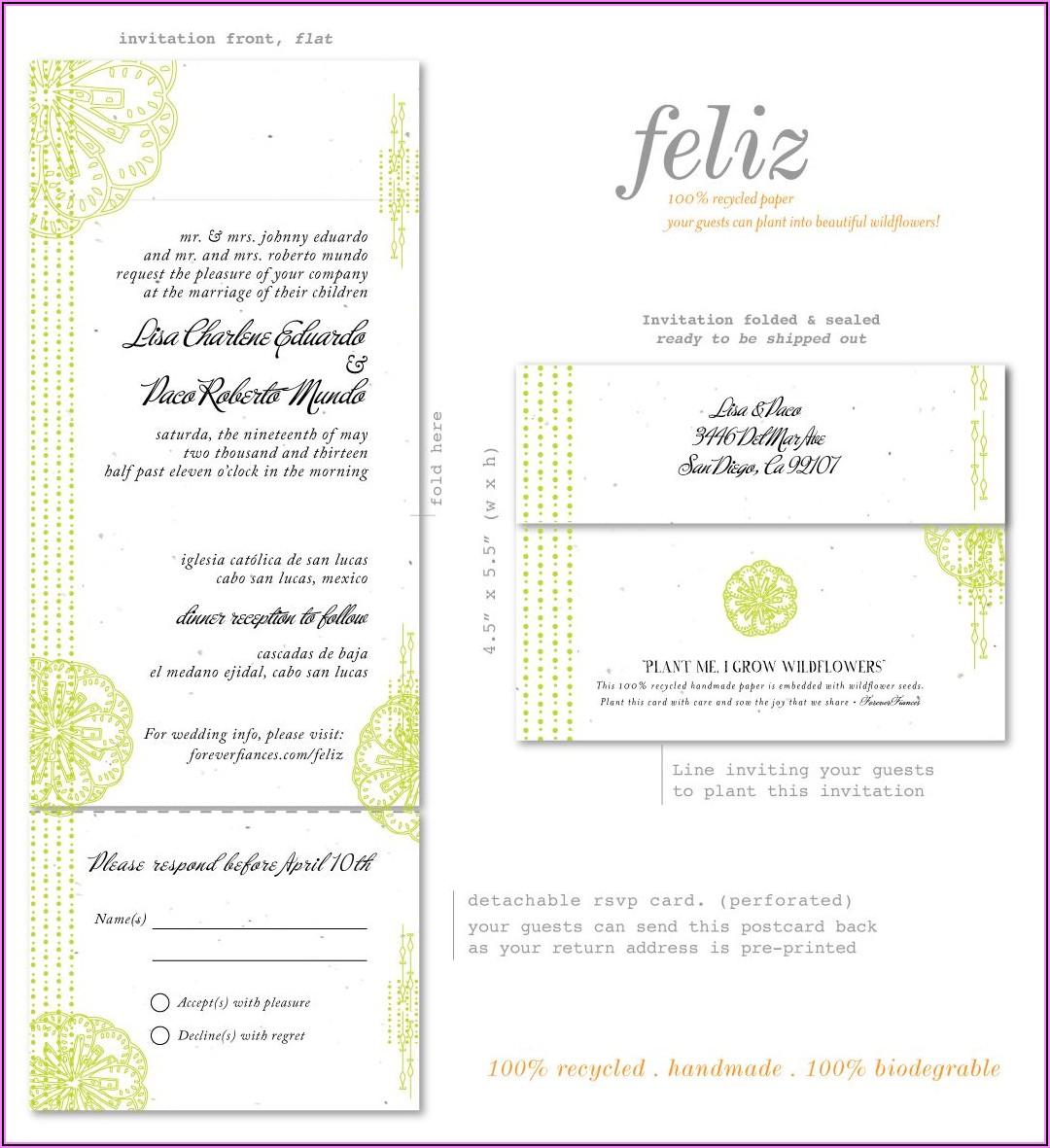 Plantable Wedding Invitations Canada