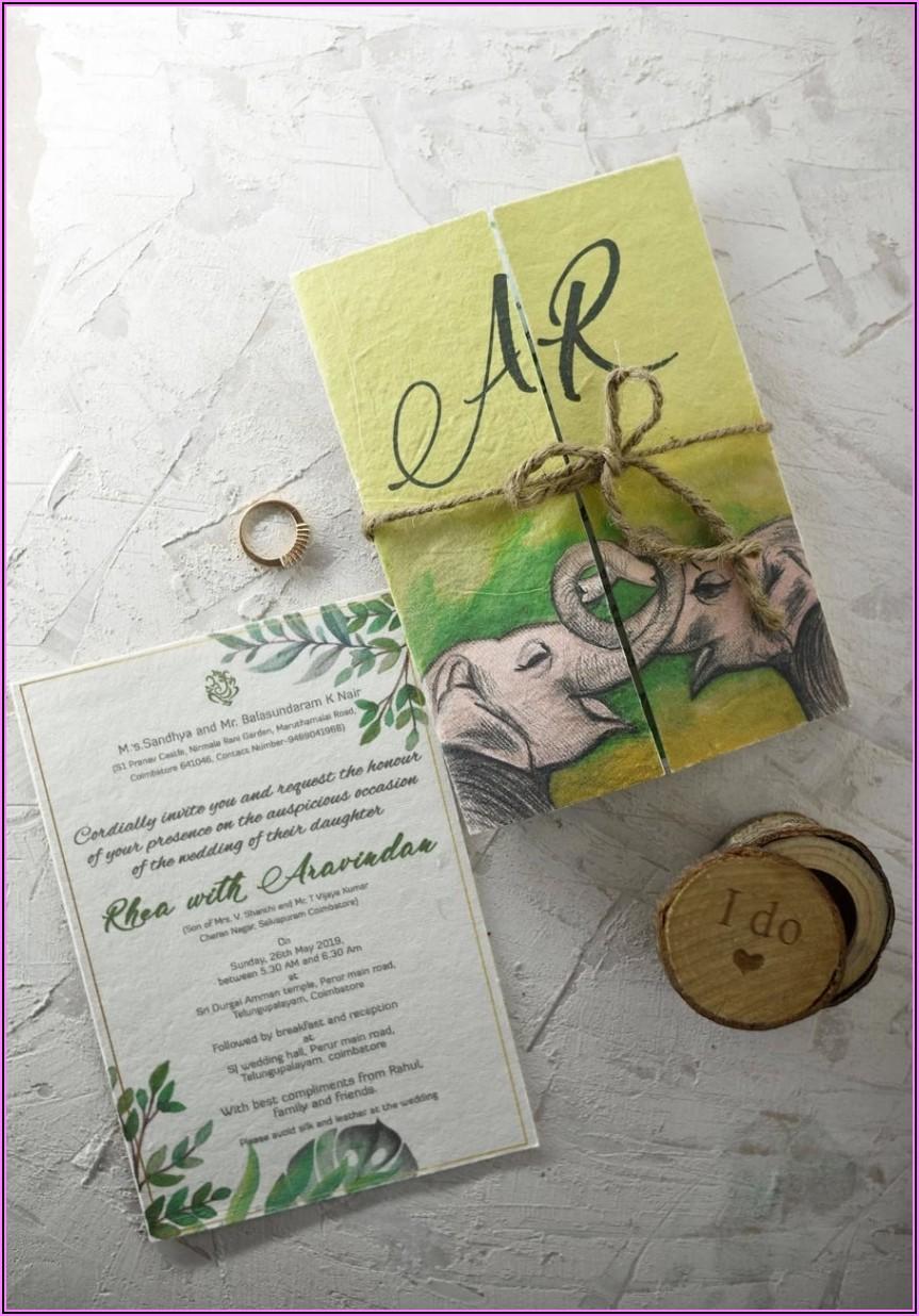 Plantable Wedding Invitations Chennai