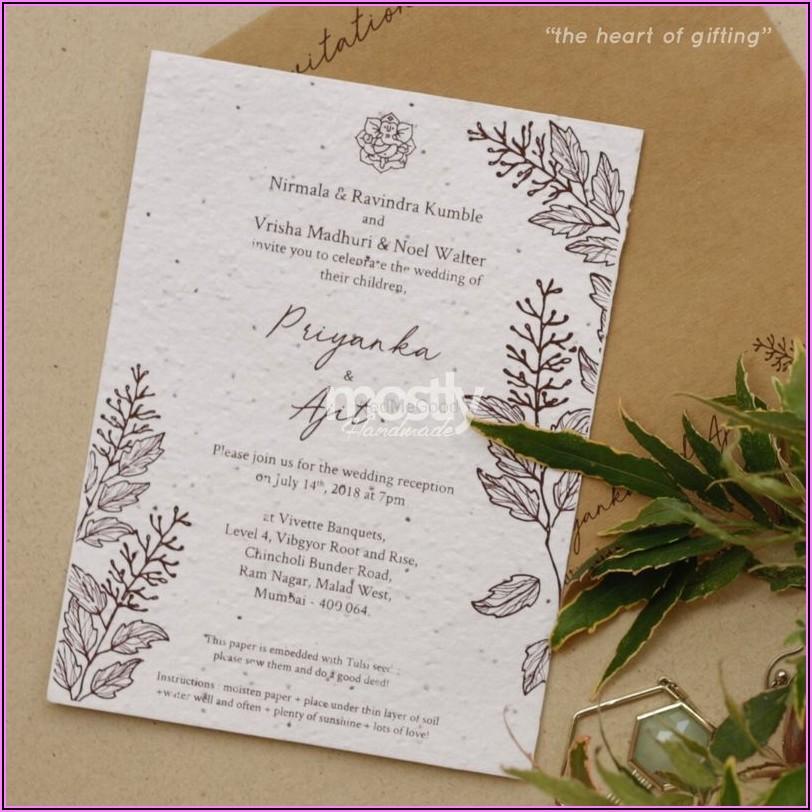 Plantable Wedding Invitations Mumbai