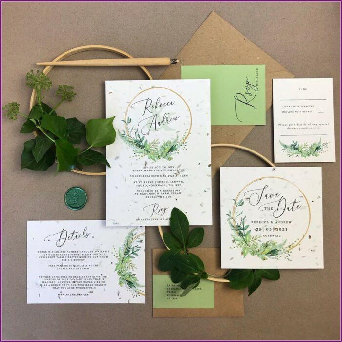 Plantable Wedding Invitations Uk