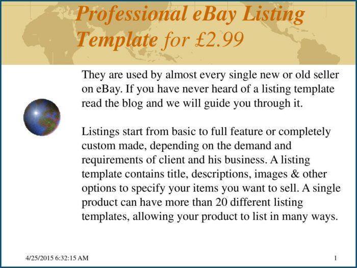 Professional Ebay Listing Template