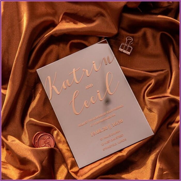 Rose Gold Quince Invitations