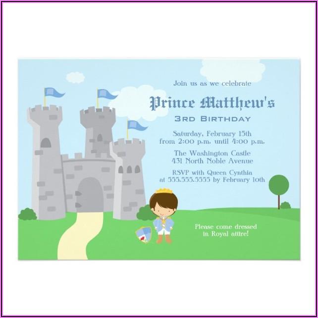 Royal Prince Birthday Party Invite