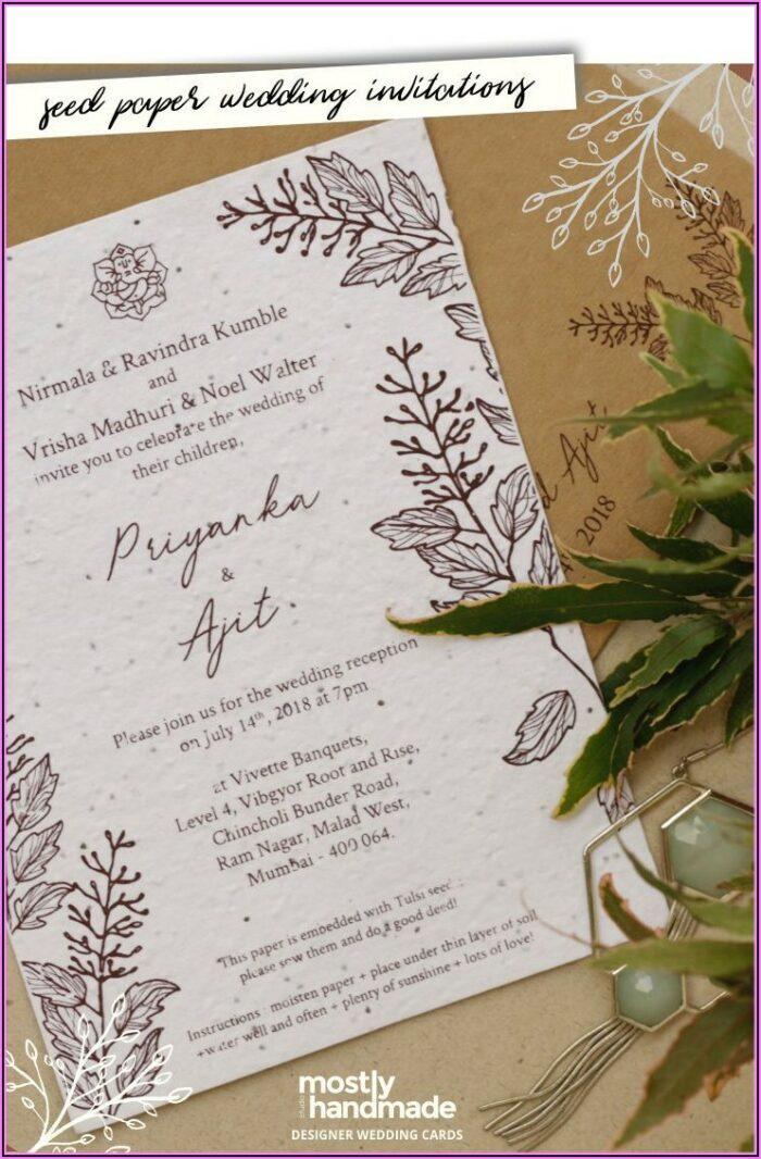 Seed Paper Wedding Invitations Mumbai