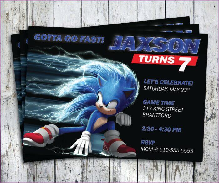 Sonic The Hedgehog Invitation Cards