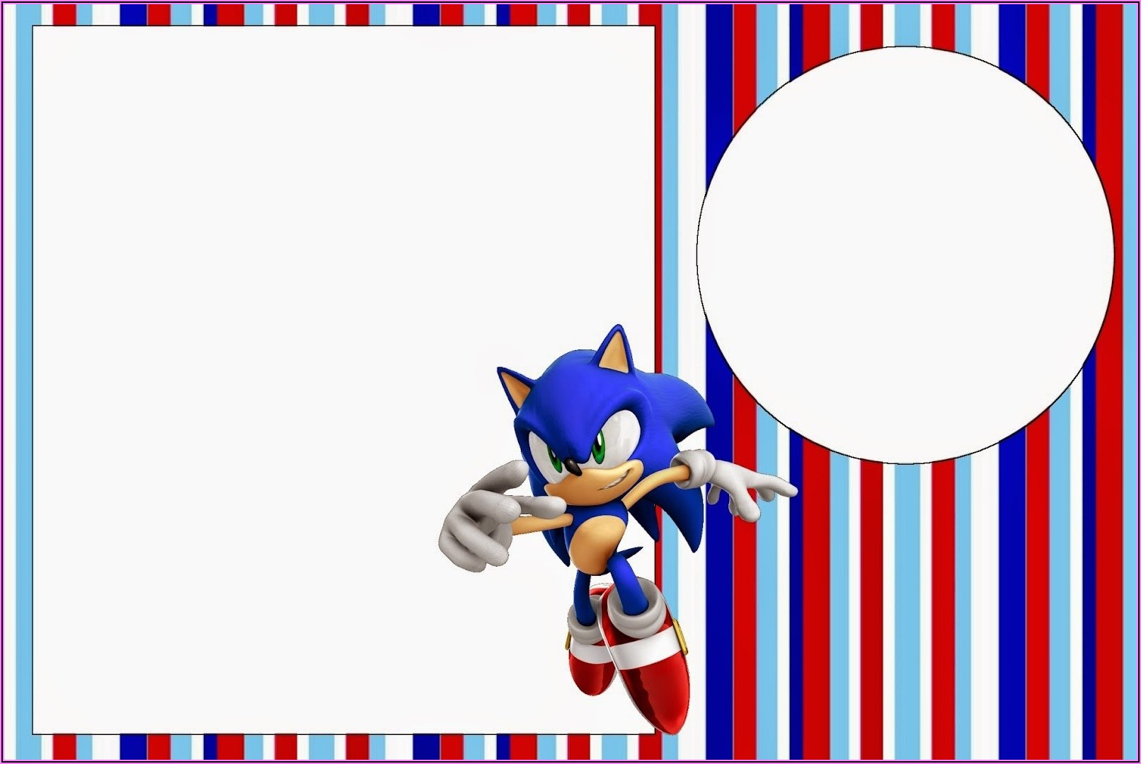 Sonic The Hedgehog Invitation Template