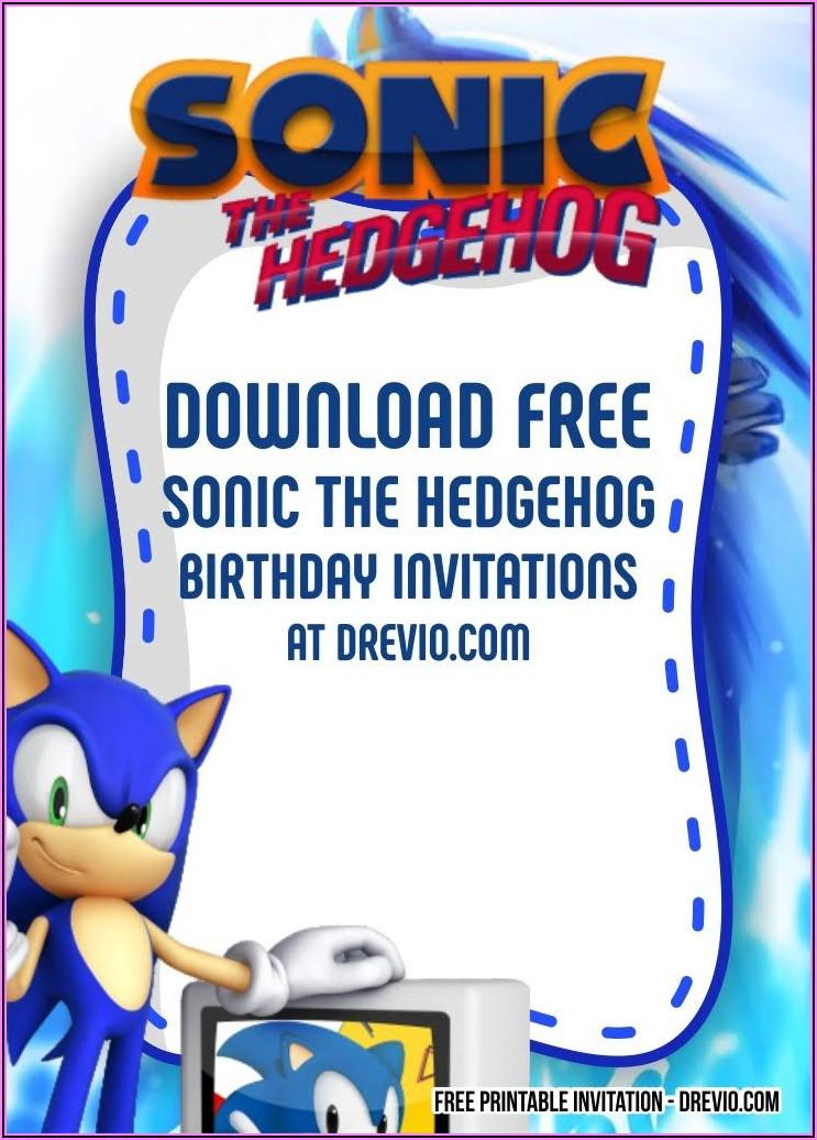 Sonic The Hedgehog Printable Birthday Invitations