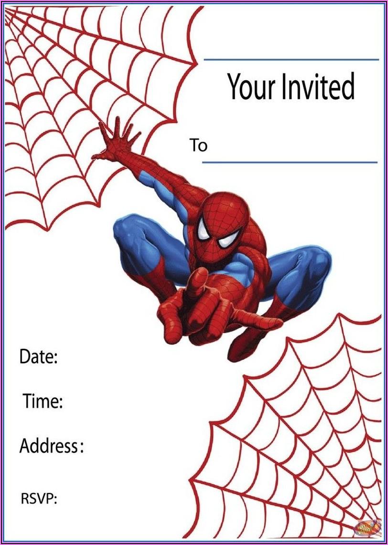 Spiderman Birthday Invitations Online Free