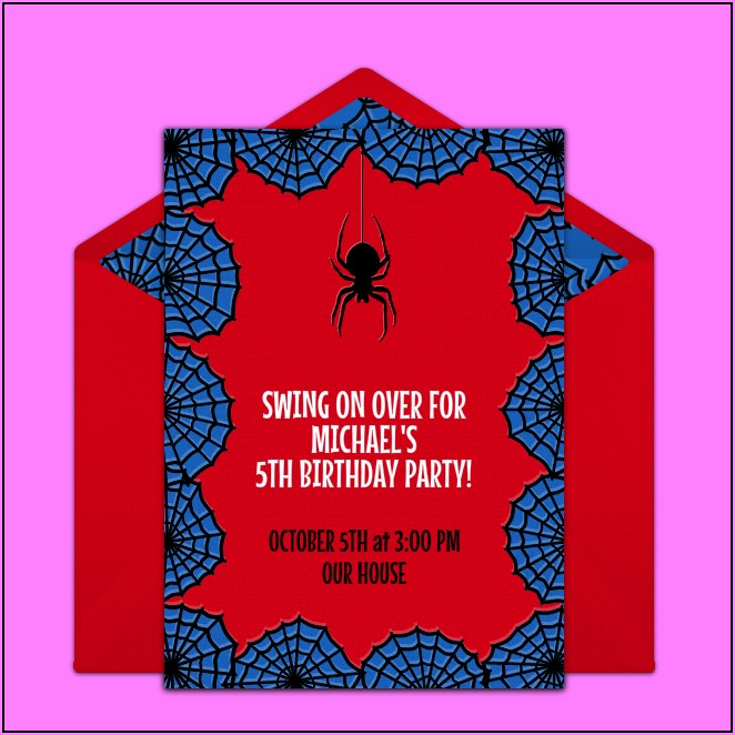 Spiderman Birthday Party Invitations Free