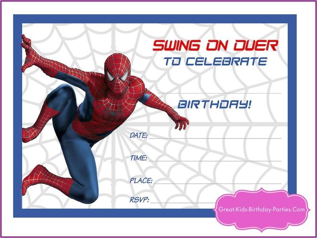 Spiderman Invitations Template Free