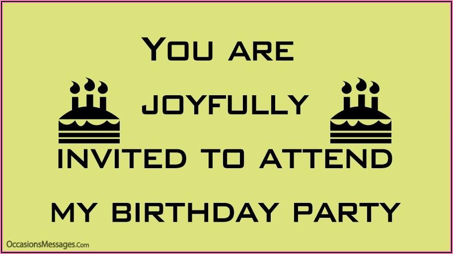 Text Message 5th Birthday Invitation Message