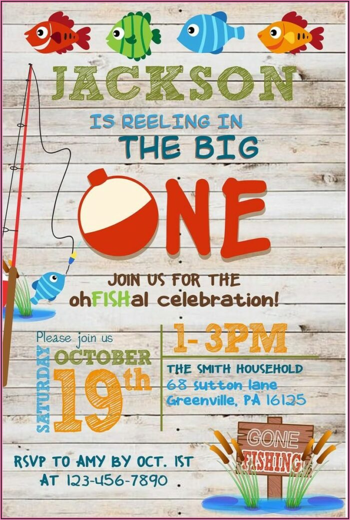 The Big One First Birthday Invitations